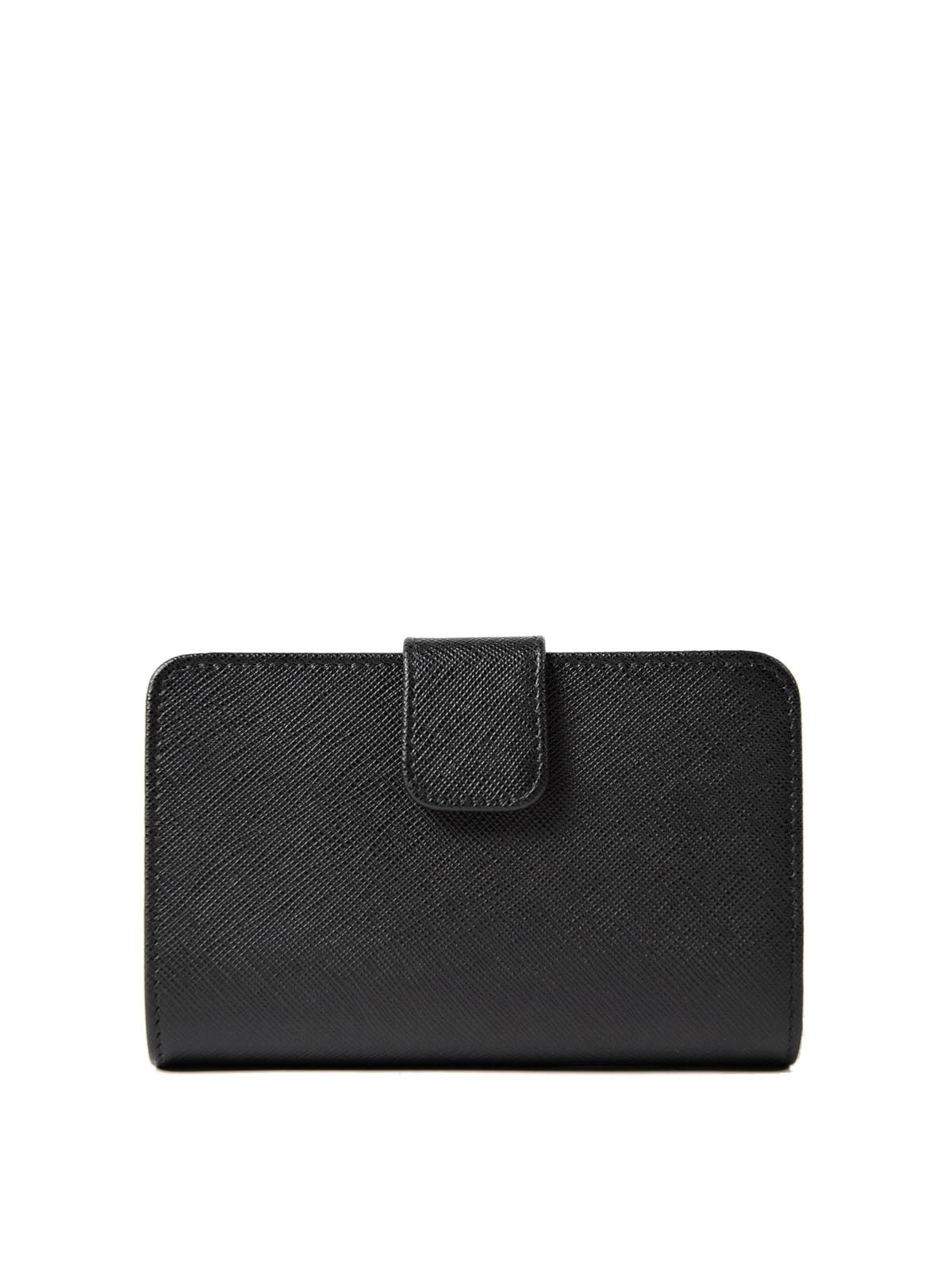 ddffc09067b8 iKRIX PRADA  wallets   purses - Black saffiano leather French wallet