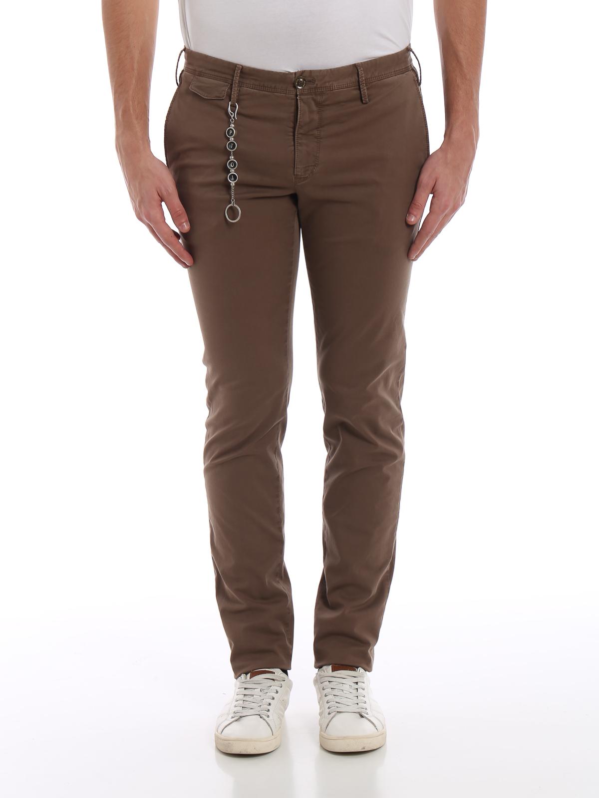 iKRIX PT 01  pantaloni casual - Pantaloni in drill di cotone color cacao 546114a3c1b