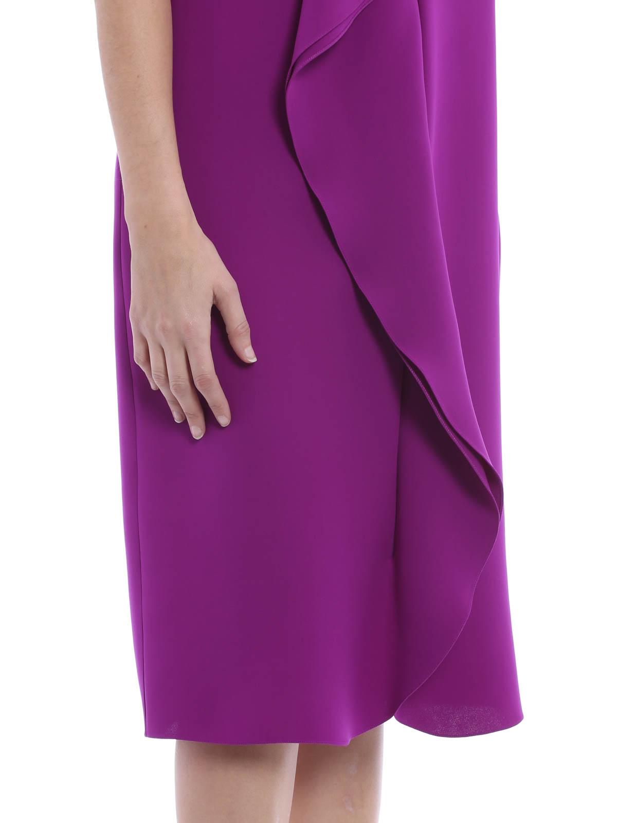 Deep V-neck draped dress de Ralph Lauren - Vestidos de cóctel ...