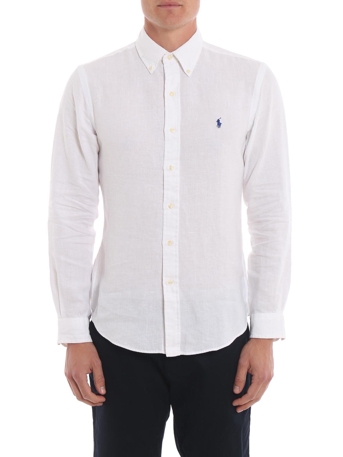 ee9a3e1e0cff06 Ralph Lauren - White linen b d shirt - shirts - 710744906008