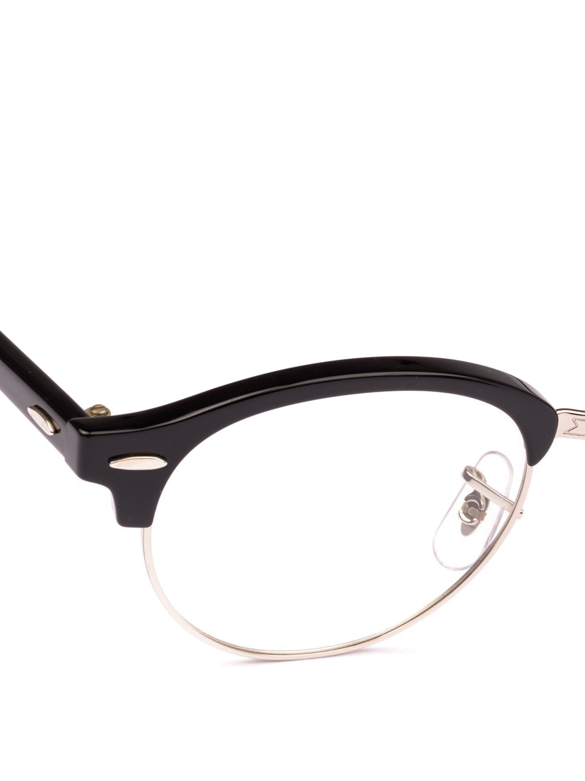 Black acetate and metal half frame glasses by Ray Ban - glasses ...