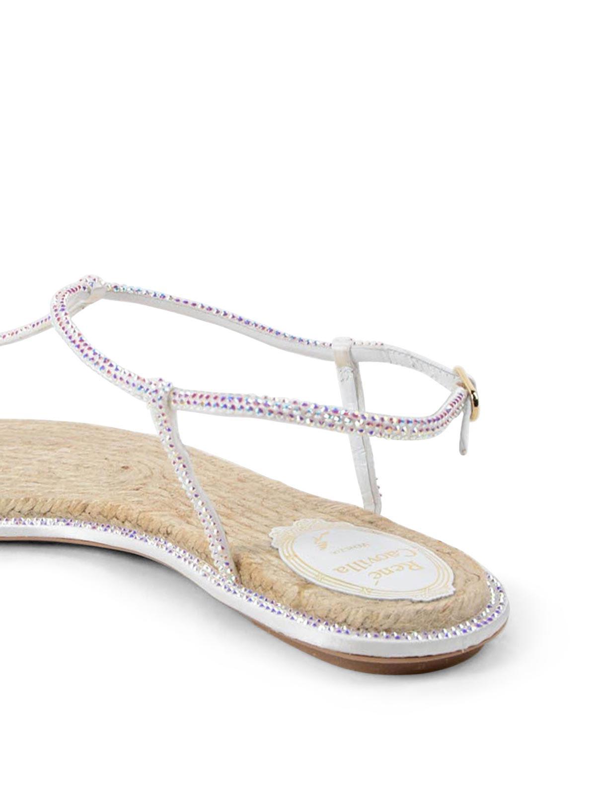 3b458b9800a9 Rene Caovilla - Crystal embellished thong sandals - sandals - C08932 ...