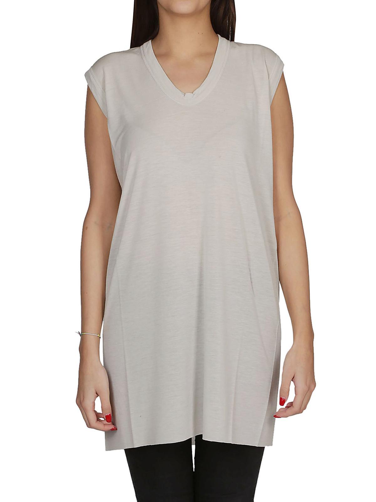 2df71854ef iKRIX RICK OWENS HUN: Tops & Tank tops - V-neck white silk blend
