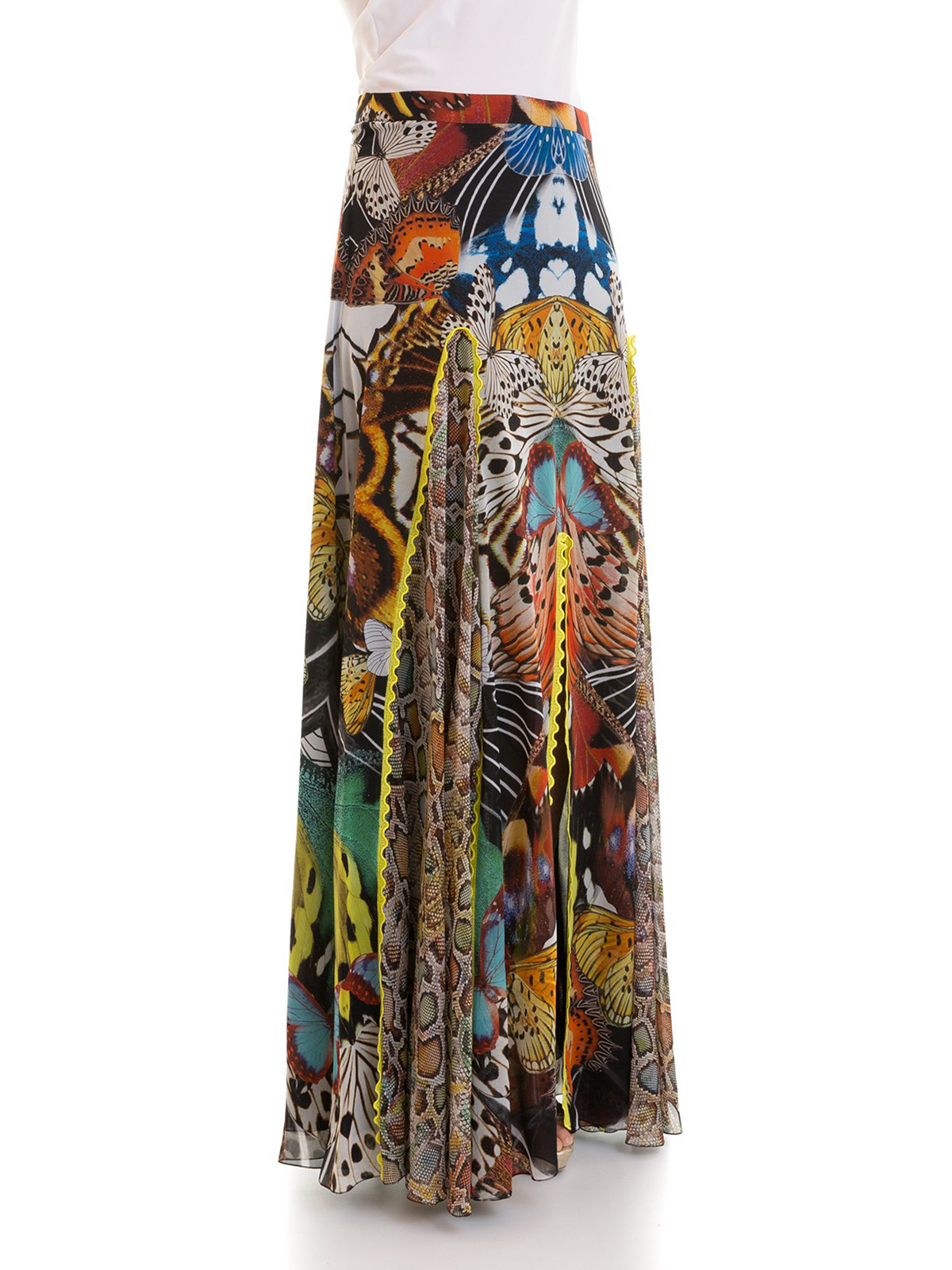 quality design 716a8 afeae Roberto Cavalli - Gonna lunga Flying Wings in seta - Gonne ...