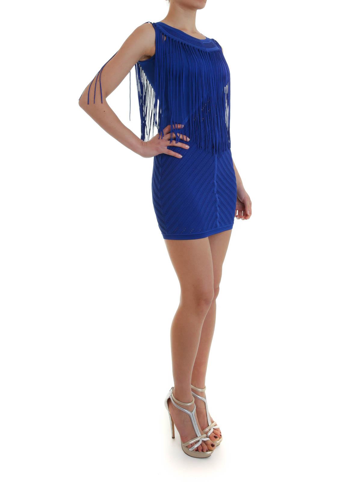 Ikrix Roberto Cavalli Short Dresses Fringed Dress