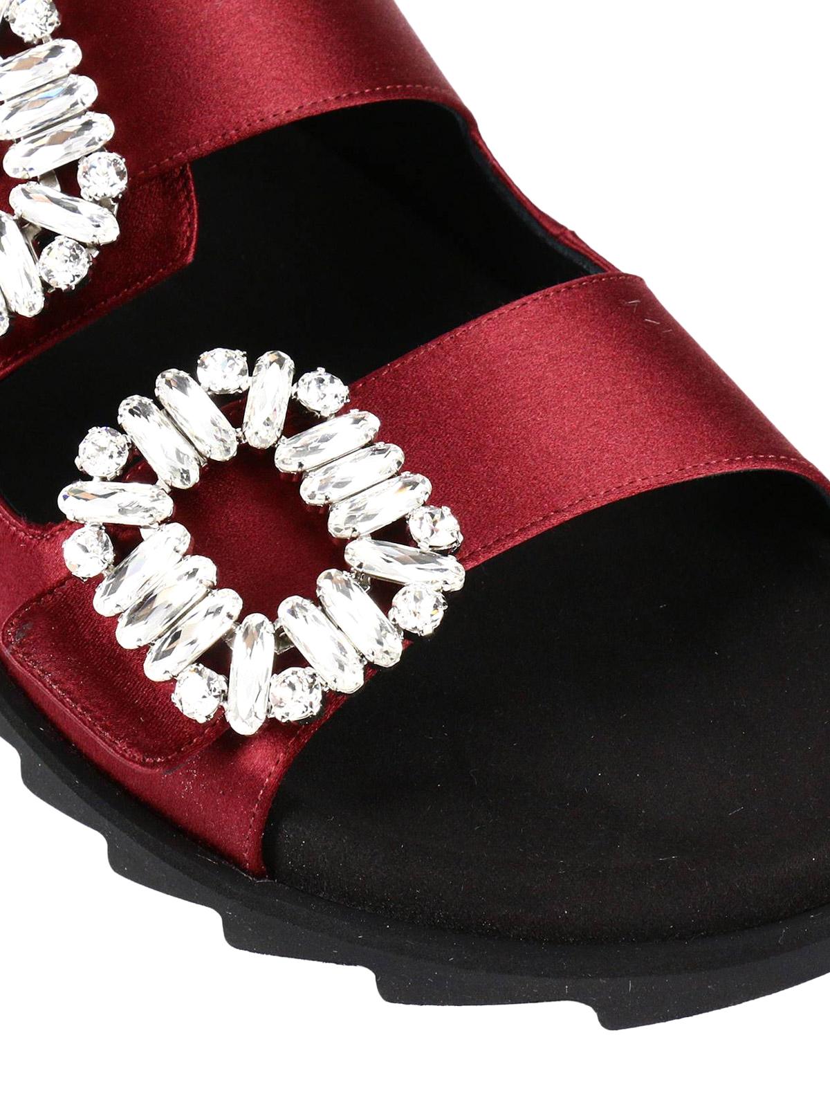 2a447c1c2ddb Roger Vivier - Viv  double buckle satin slides - sandals ...