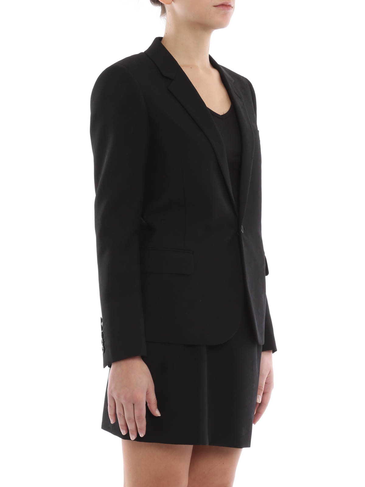 cheap for discount 4afd8 9feb2 Saint Laurent - Giacca di lana con motivi a stella - giacche ...