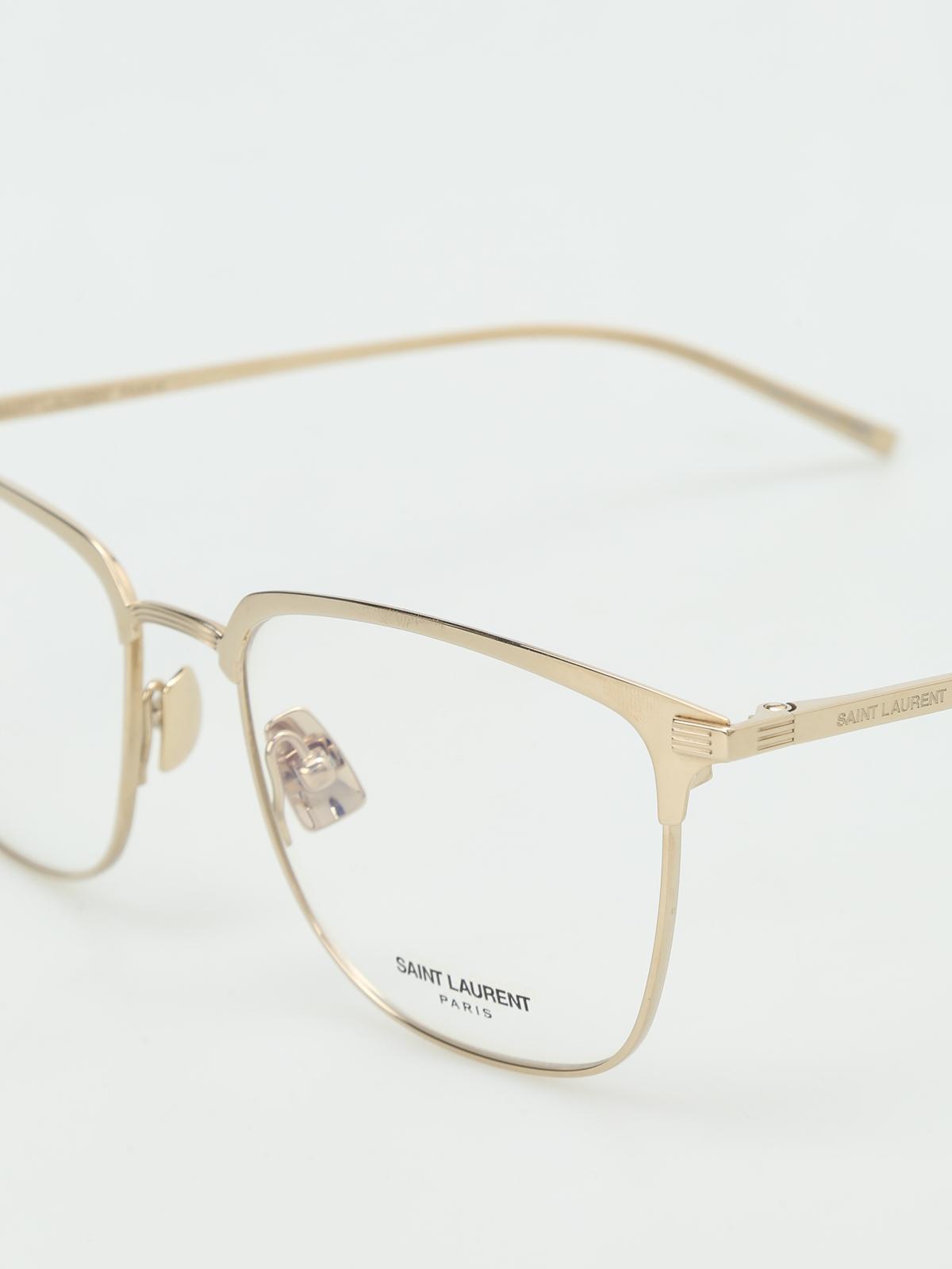 c0541ddfda Saint Laurent - Gold tone titanium optical glasses - glasses - SL151T002