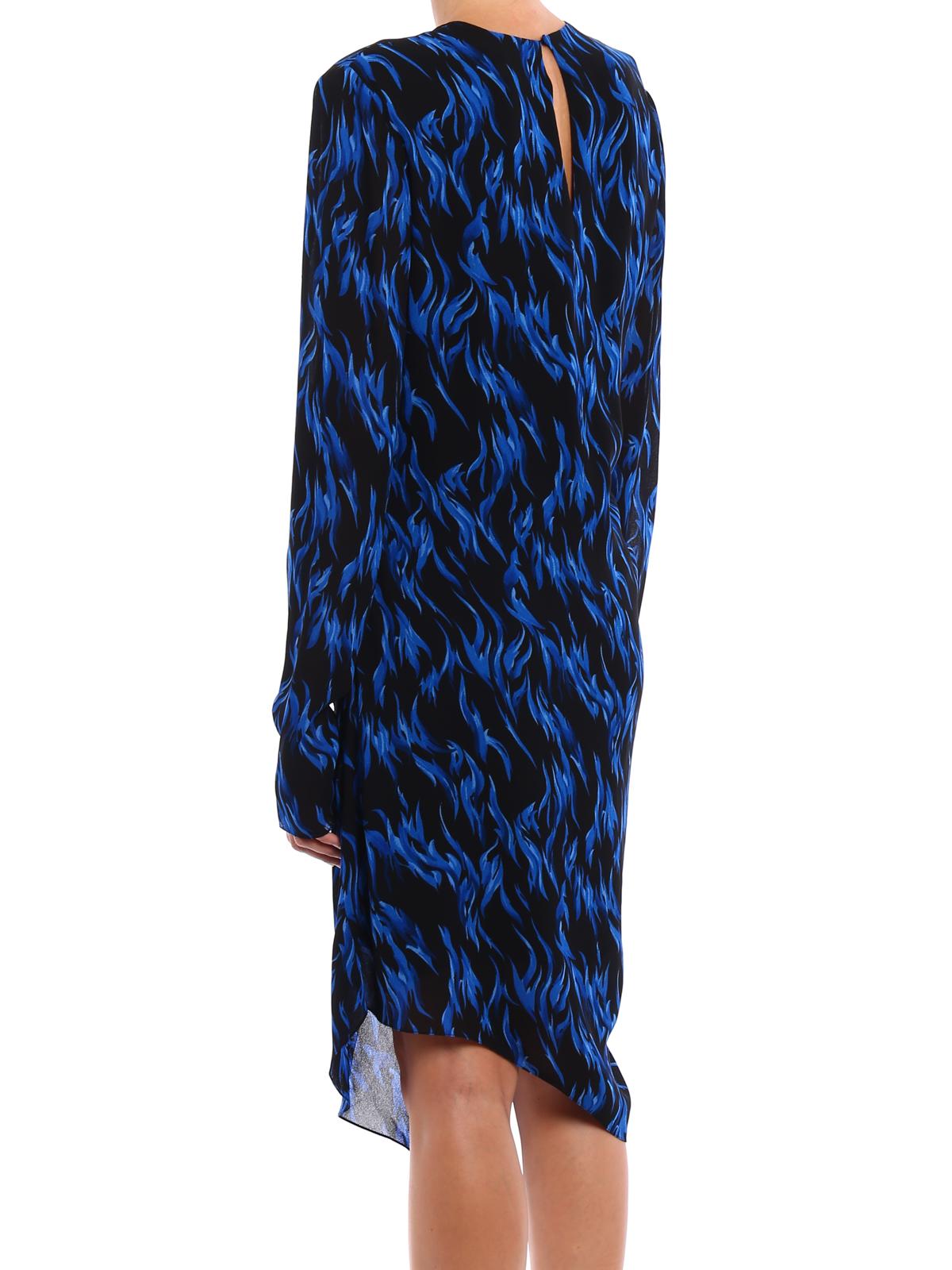 053180456d0 iKRIX SAINT LAURENT: knee length dresses - Patterned crepe asymmetric dress