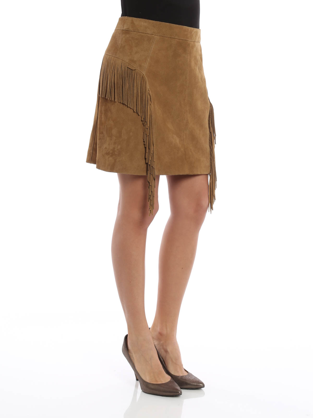 Leather Suede Skirt 40