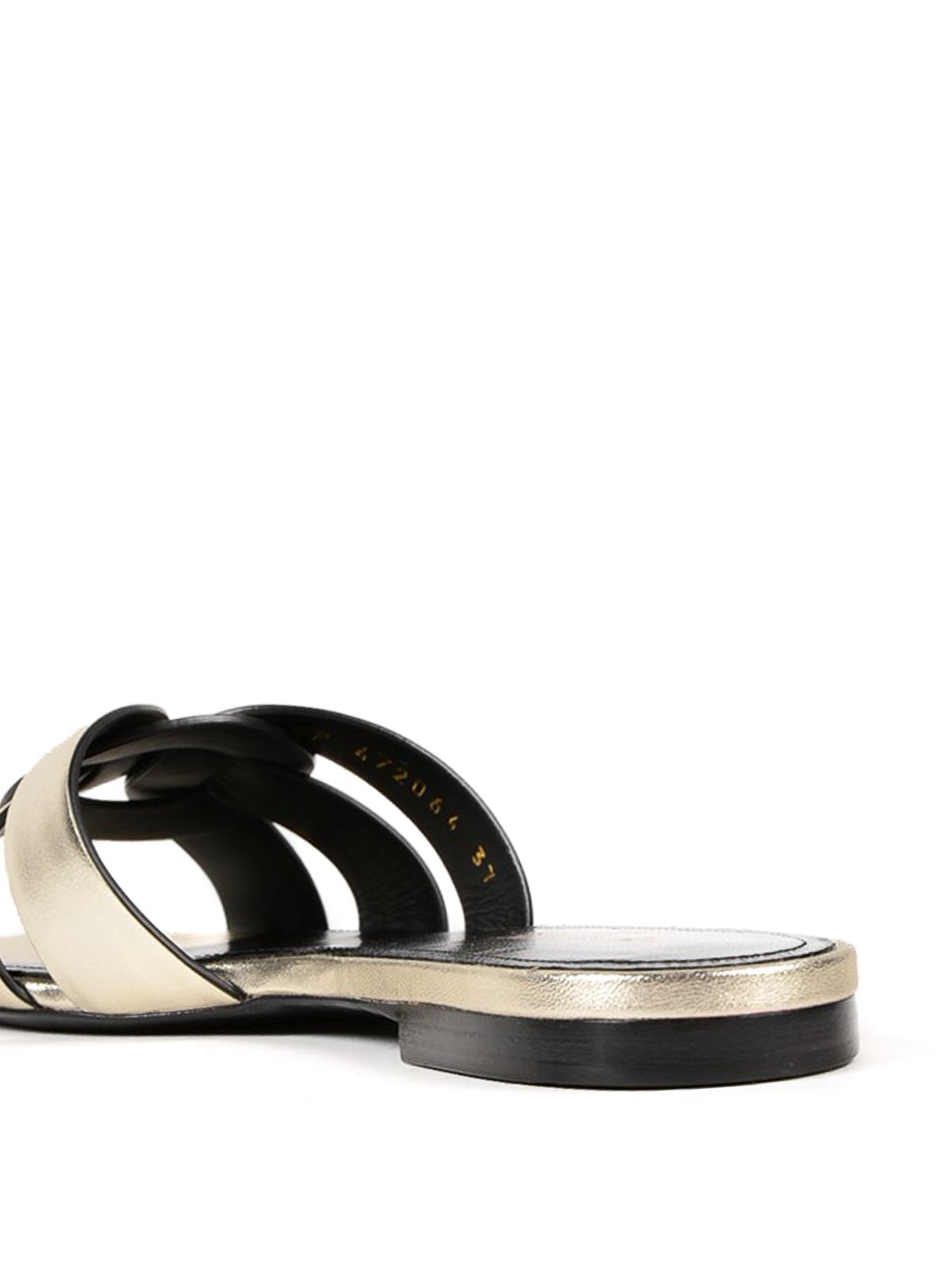 e5abc8280f7 iKRIX SAINT LAURENT  sandals - Nu Pieds Tribute flat slide sandals