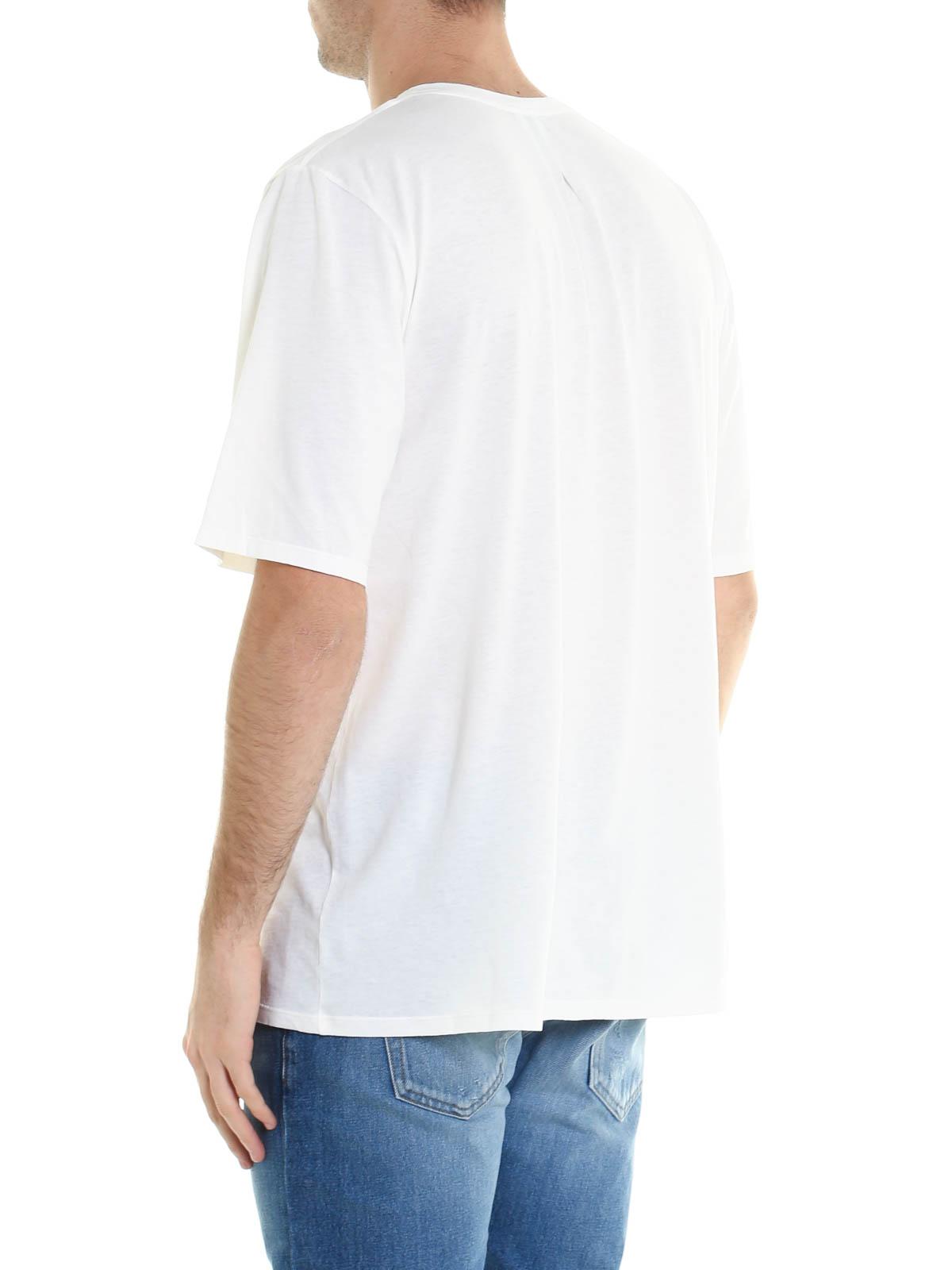 Snake print jersey t shirt by saint laurent t shirts ikrix for Saint laurent t shirt