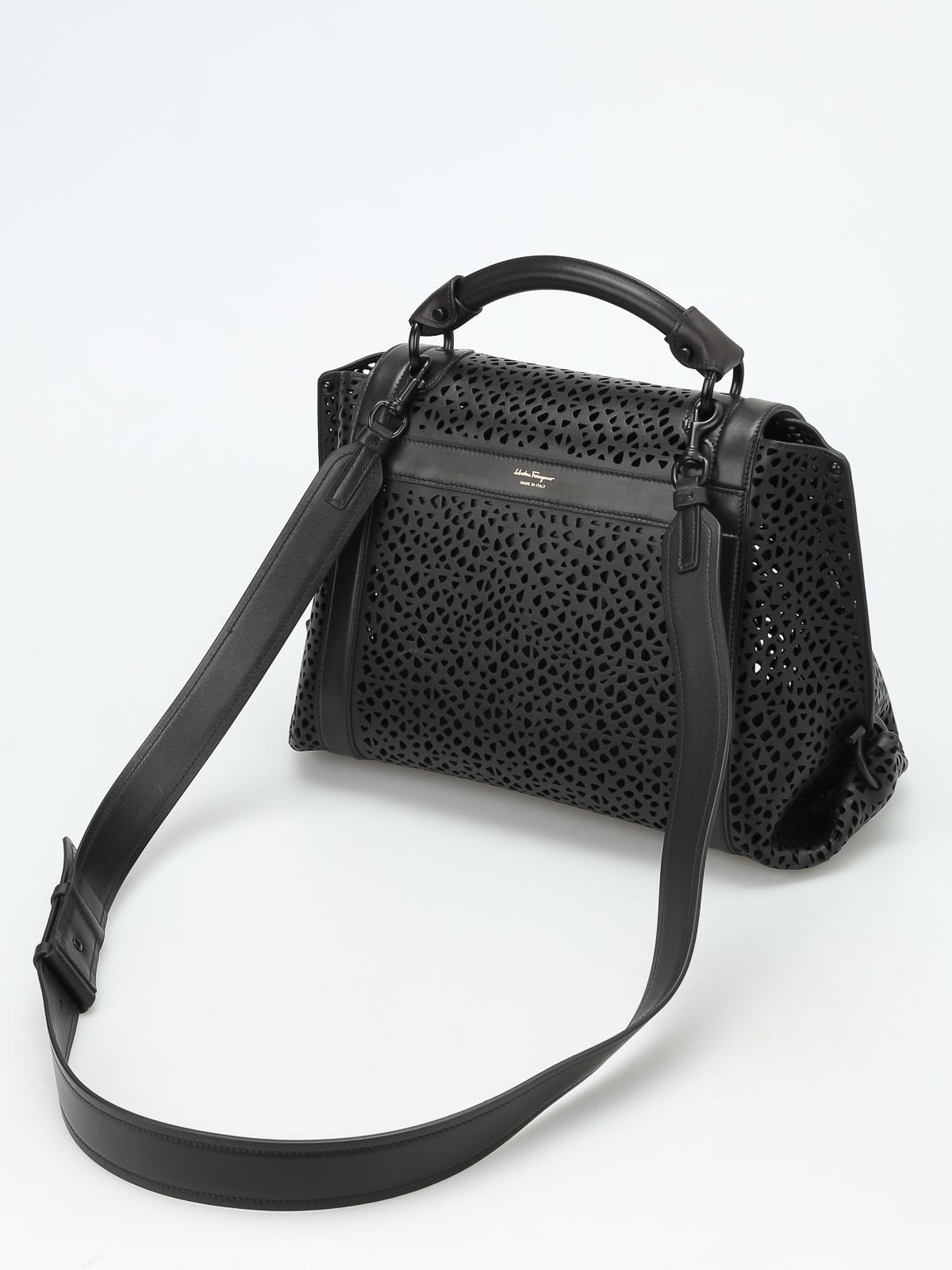 4c6fae631063 ... iKRIX SALVATORE FERRAGAMO bowling bags - Soft Sofia laser cut medium  handbag pick up c4cad 56f1f ...