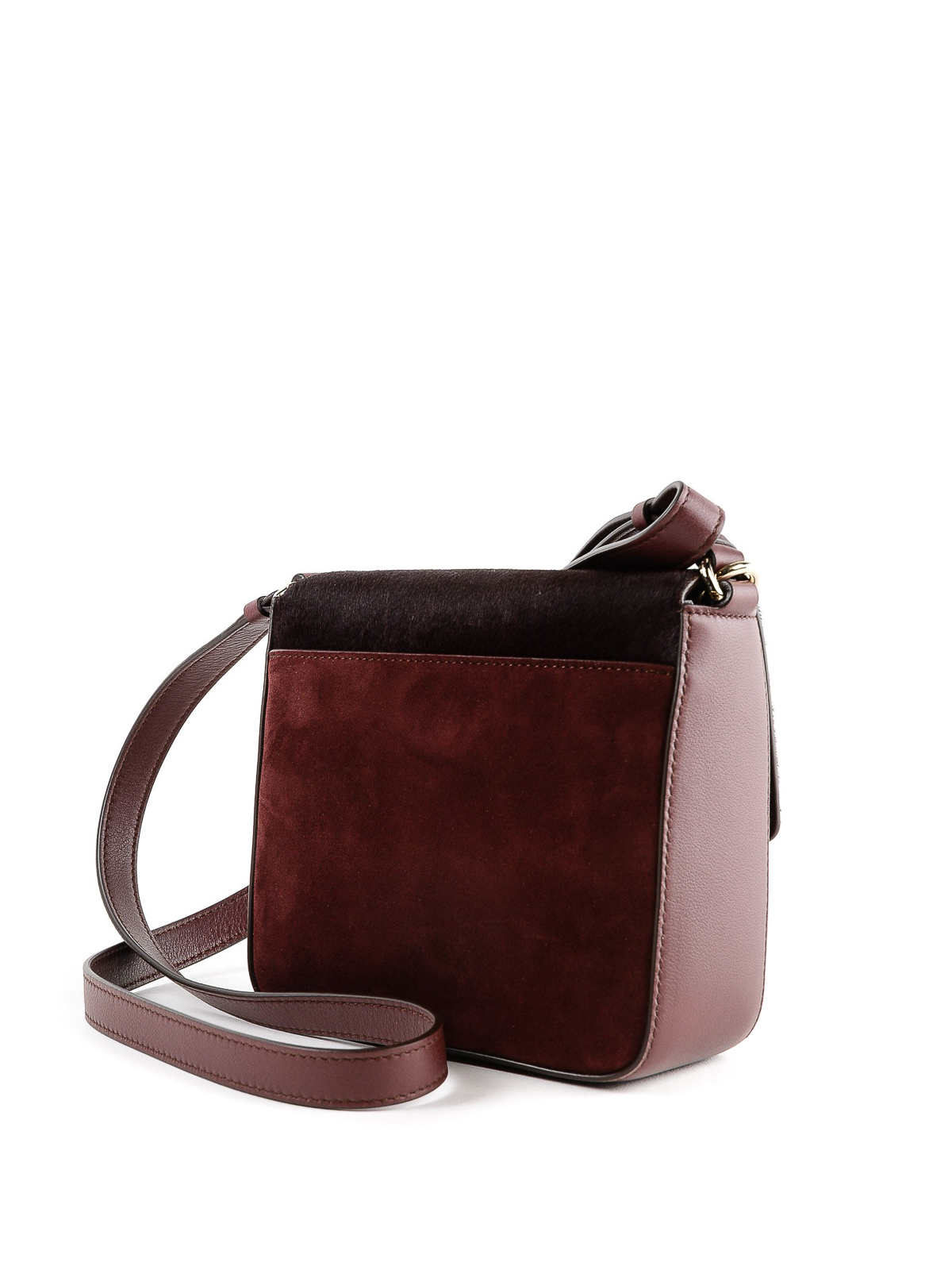 iKRIX SALVATORE FERRAGAMO  cross body bags - Lock suede and hair calf cross  body bag 70149a3dc0077