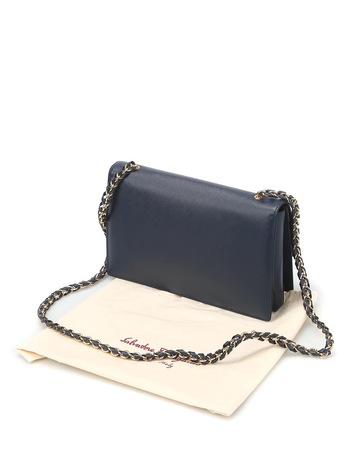 vara bow detail saffiano bag by salvatore ferragamo cross body bags shop online at. Black Bedroom Furniture Sets. Home Design Ideas
