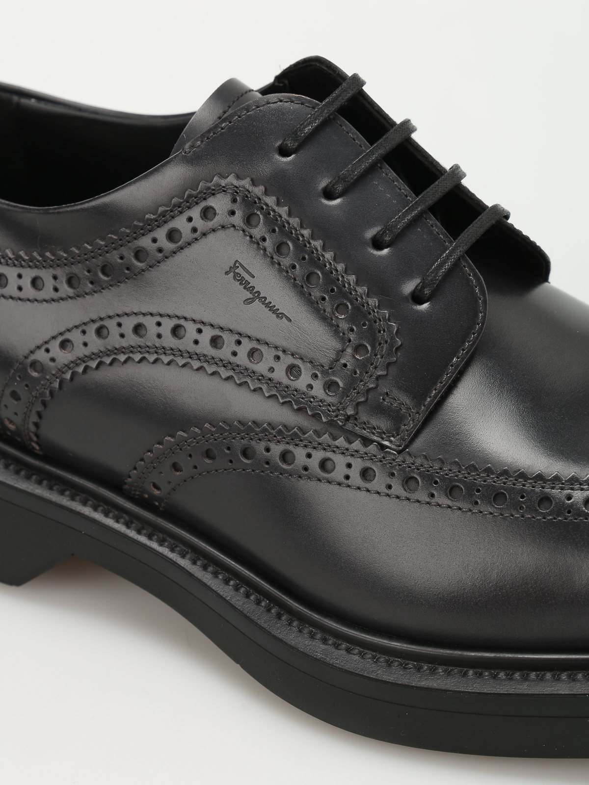 e1ac4fc30934 iKRIX SALVATORE FERRAGAMO: lace-ups shoes - Donegal brushed leather brogues