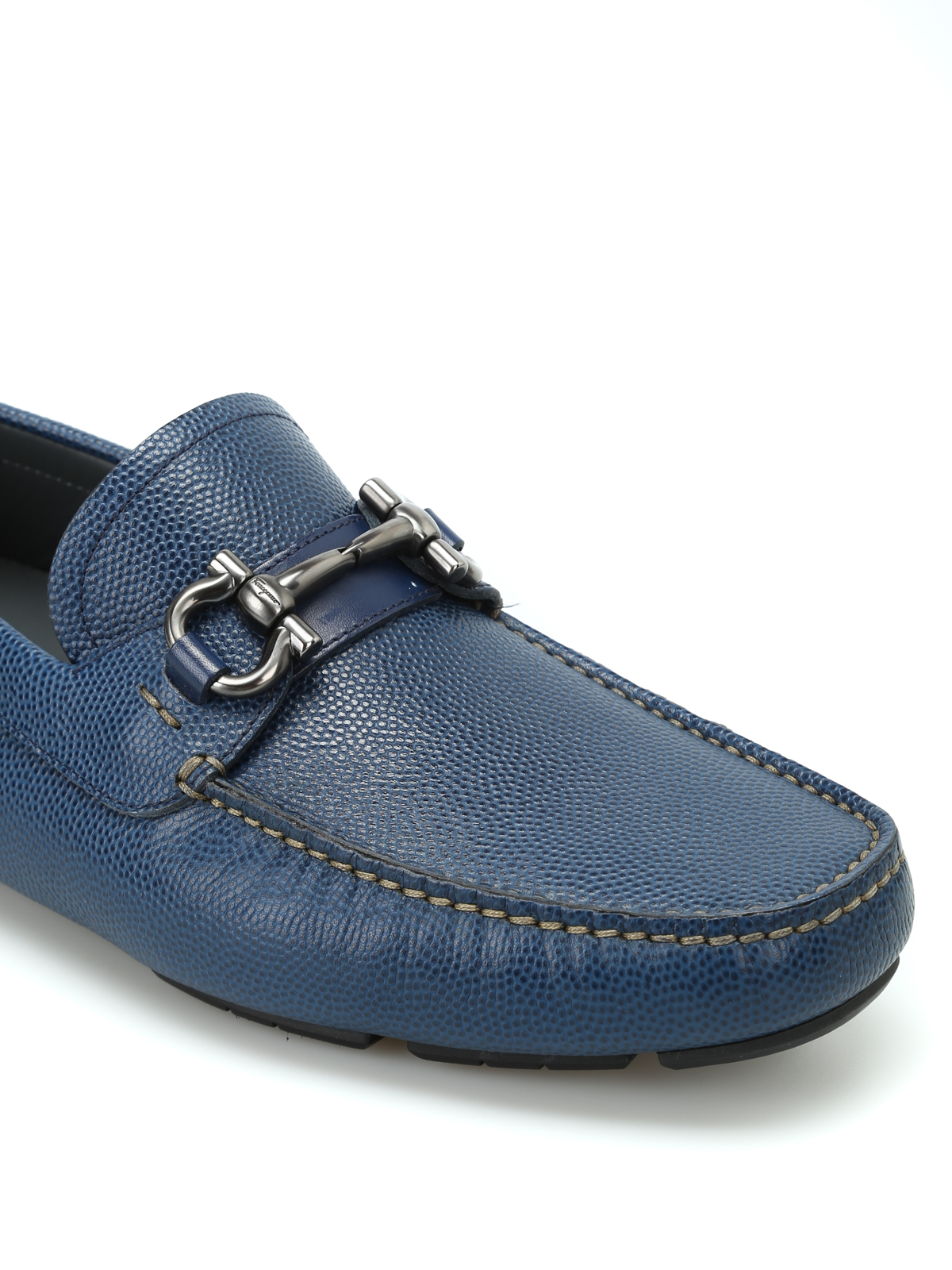 Salvatore Ferragamo Parigi Blue Leather Loafers