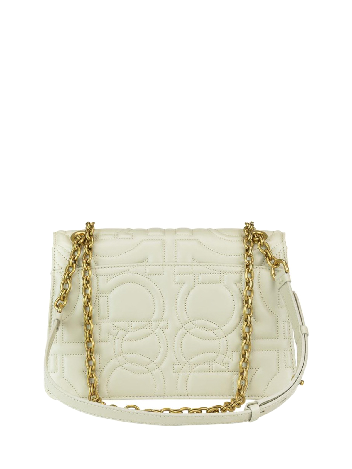iKRIX SALVATORE FERRAGAMO  shoulder bags - Gancini white quilted leather  shoulder bag e2dd17ae1f