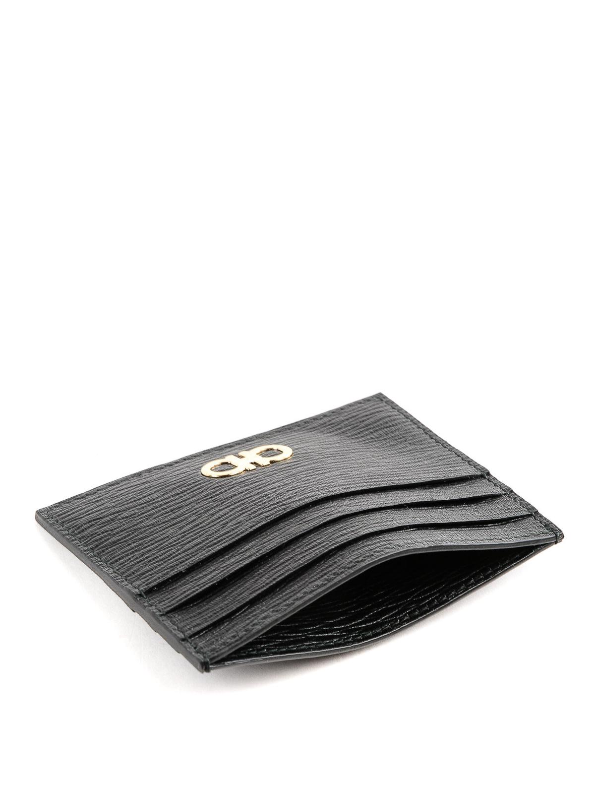 iKRIX SALVATORE FERRAGAMO  portafogli - Porta carte Gancini in pelle  lavorata 7f6b17ba3a8