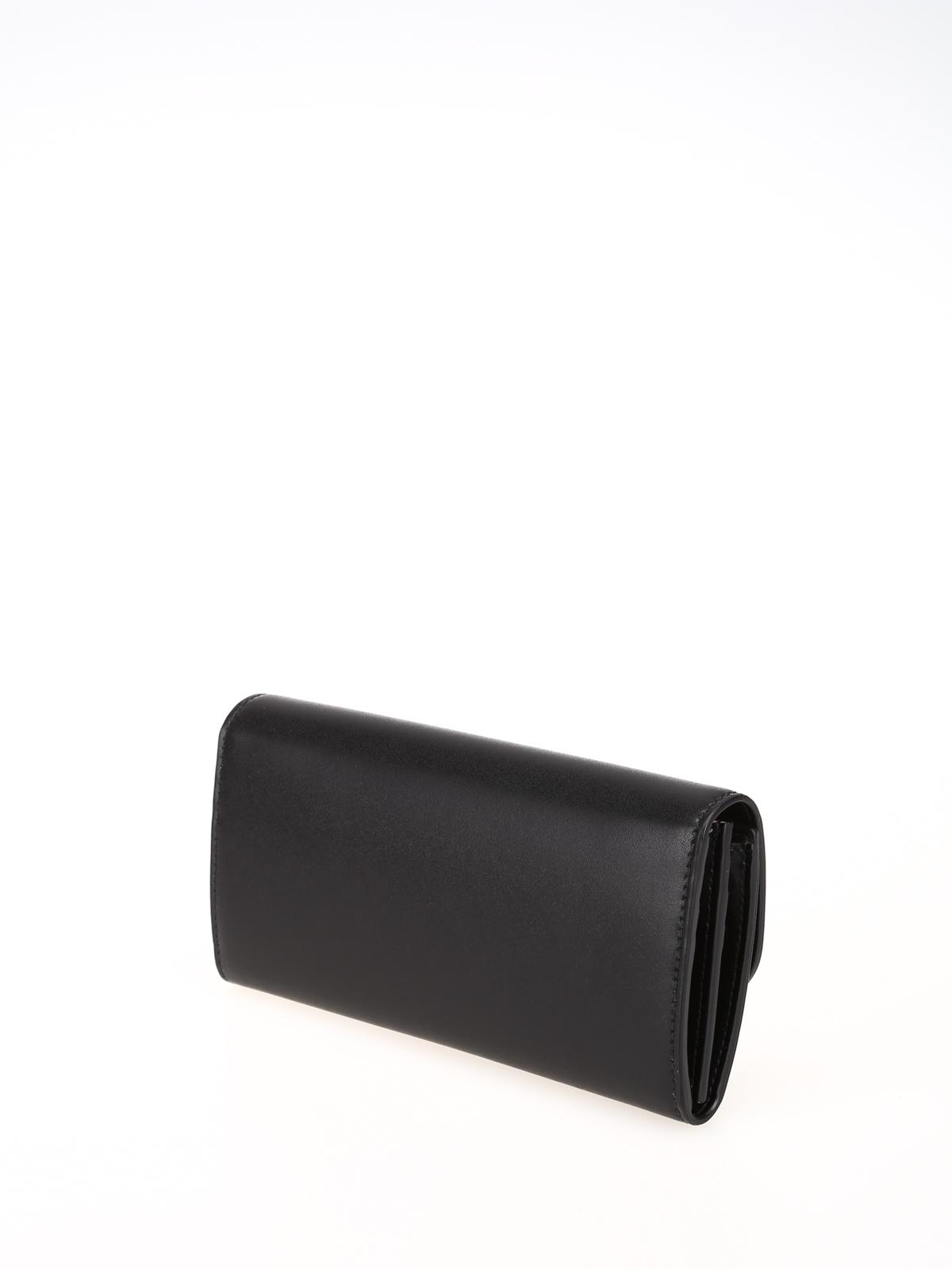 10c71c6c27 iKRIX SALVATORE FERRAGAMO: portafogli - Portafoglio continental nero con  fiocco Vara