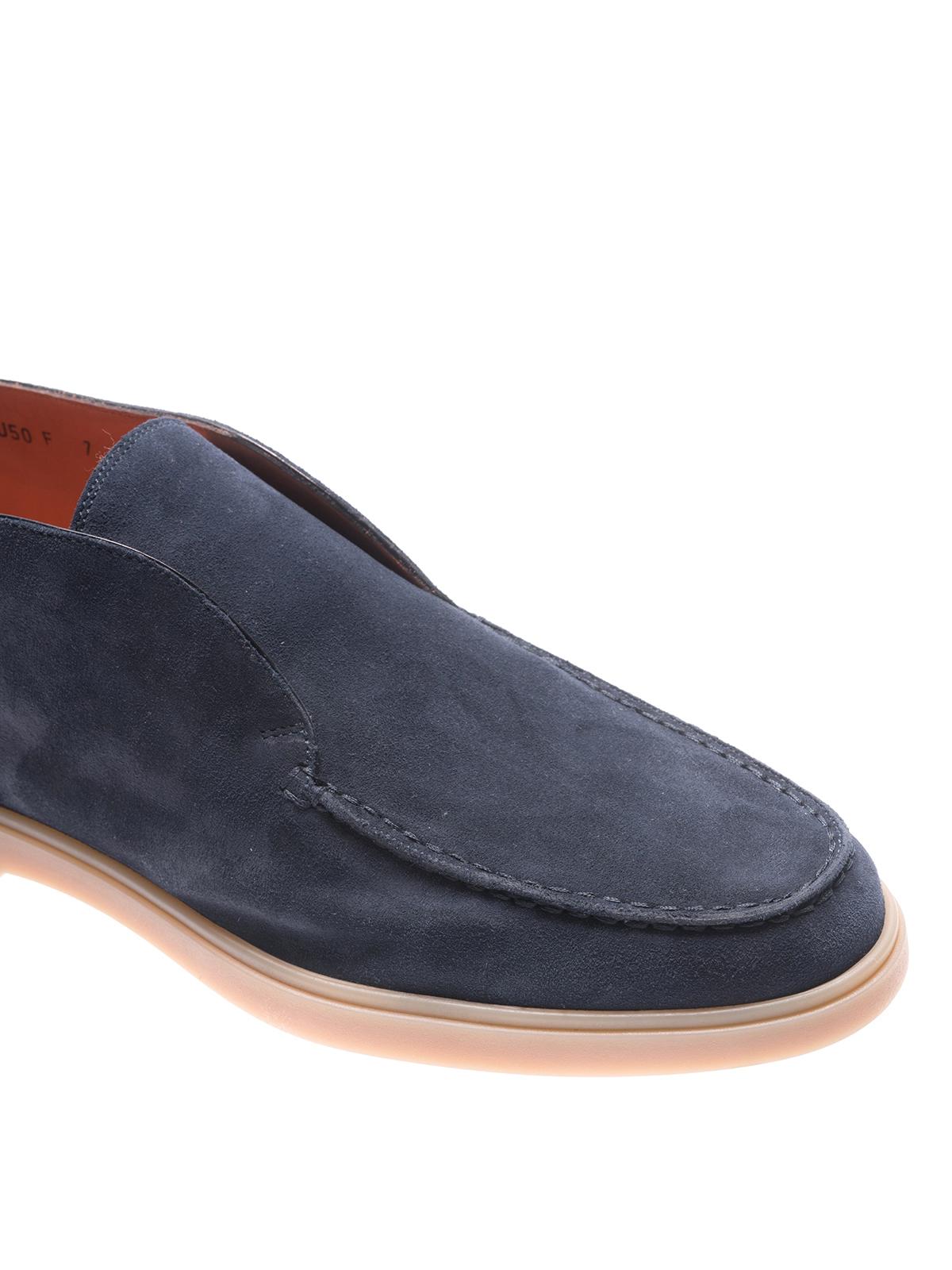Santoni - Suede slip-on ankle boots