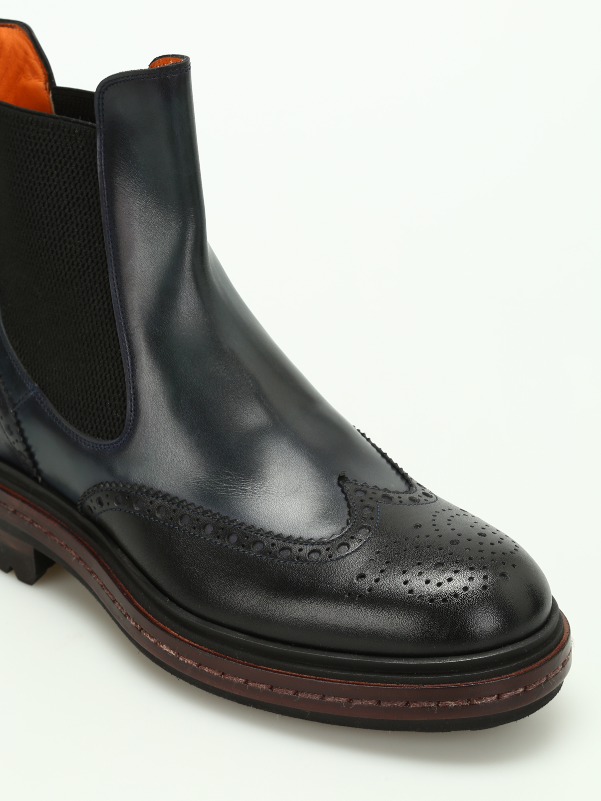 ffeac953515b0d iKRIX SANTONI  ankle boots - Two-tone leather Chelsea boots