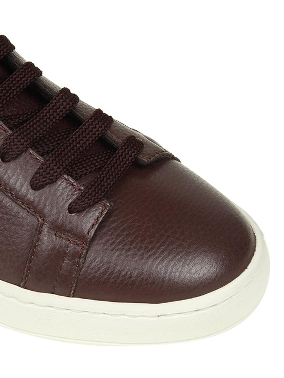 iKRIX SANTONI  sneakers - Sneaker alte in pelle martellata bordeaux 5f0815951f4