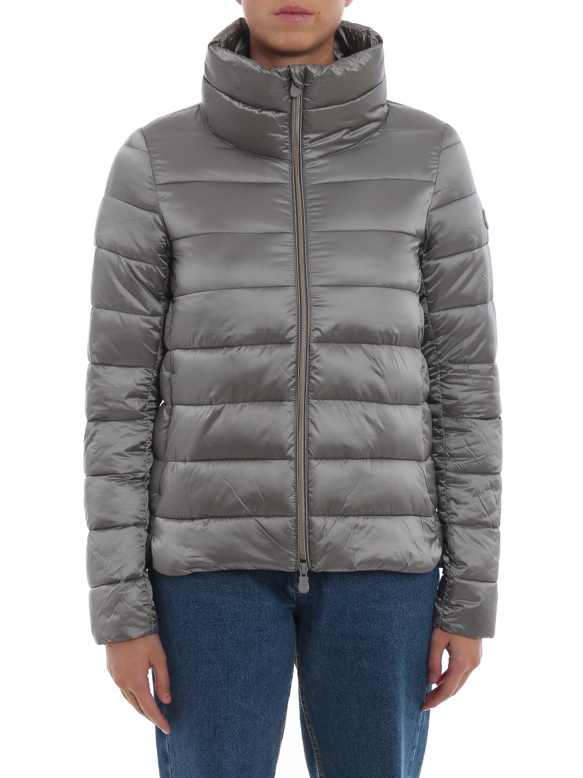 info for f2426 9f5d8 Save the Duck - Piumino grigio con collo a imbuto - giacche ...
