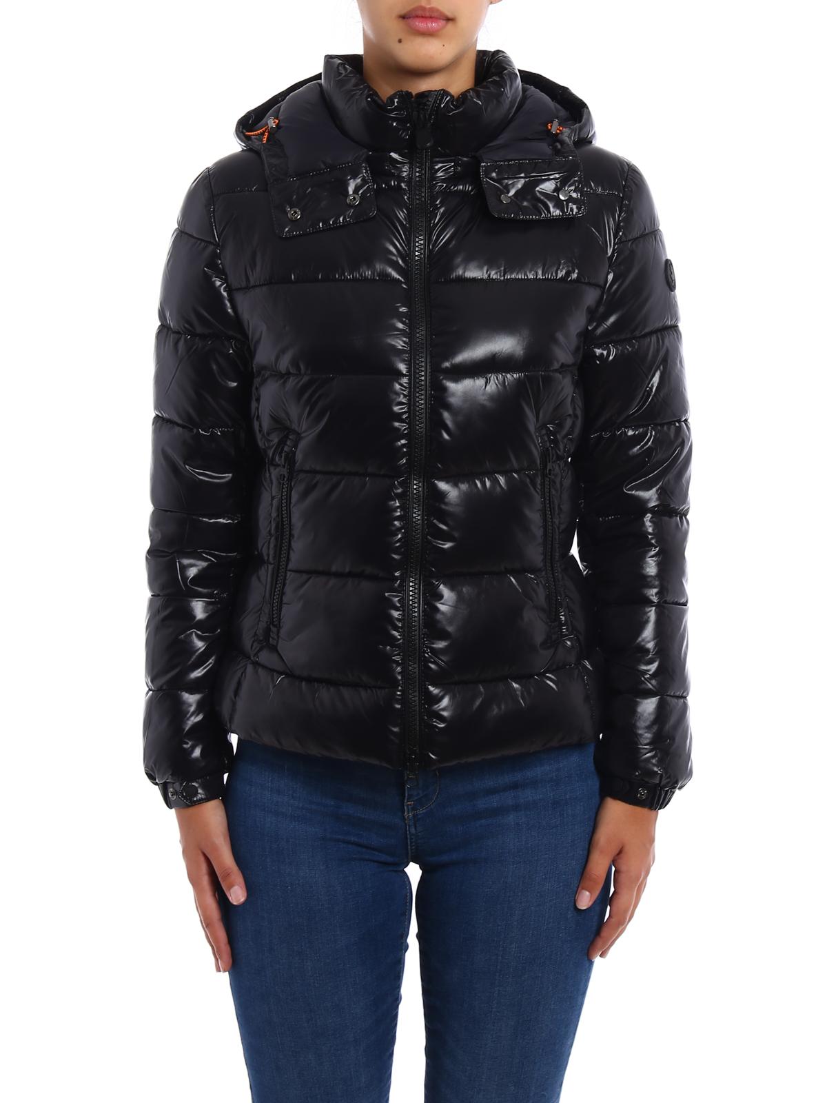 iKRIX Save the Duck: padded jackets - Shiny nylon crop puffer jacket