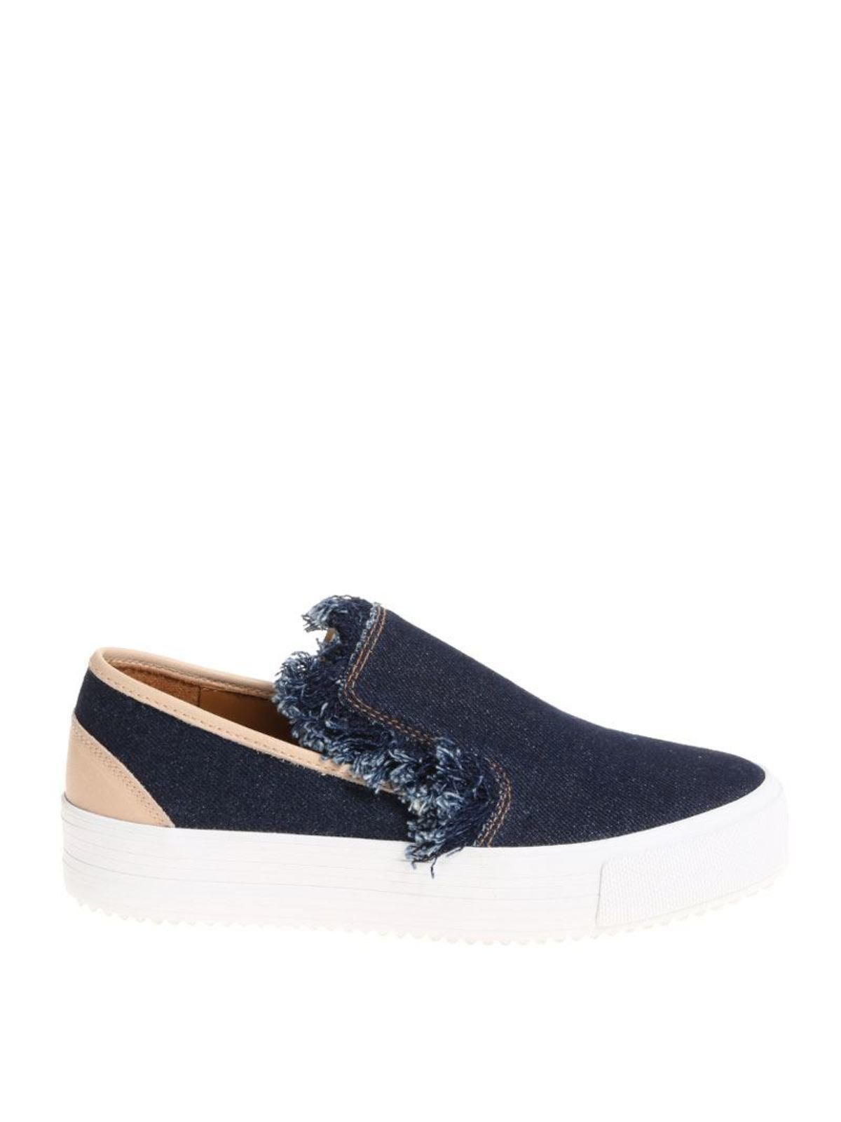 Slip-on sneakers with fringes