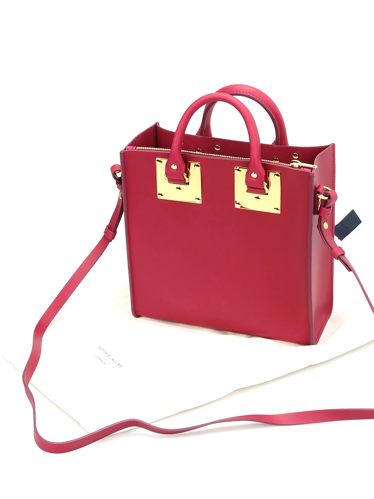 iKRIX Sophie Hulme  totes bags - Square Albion matte leather tote be5eca493ba04