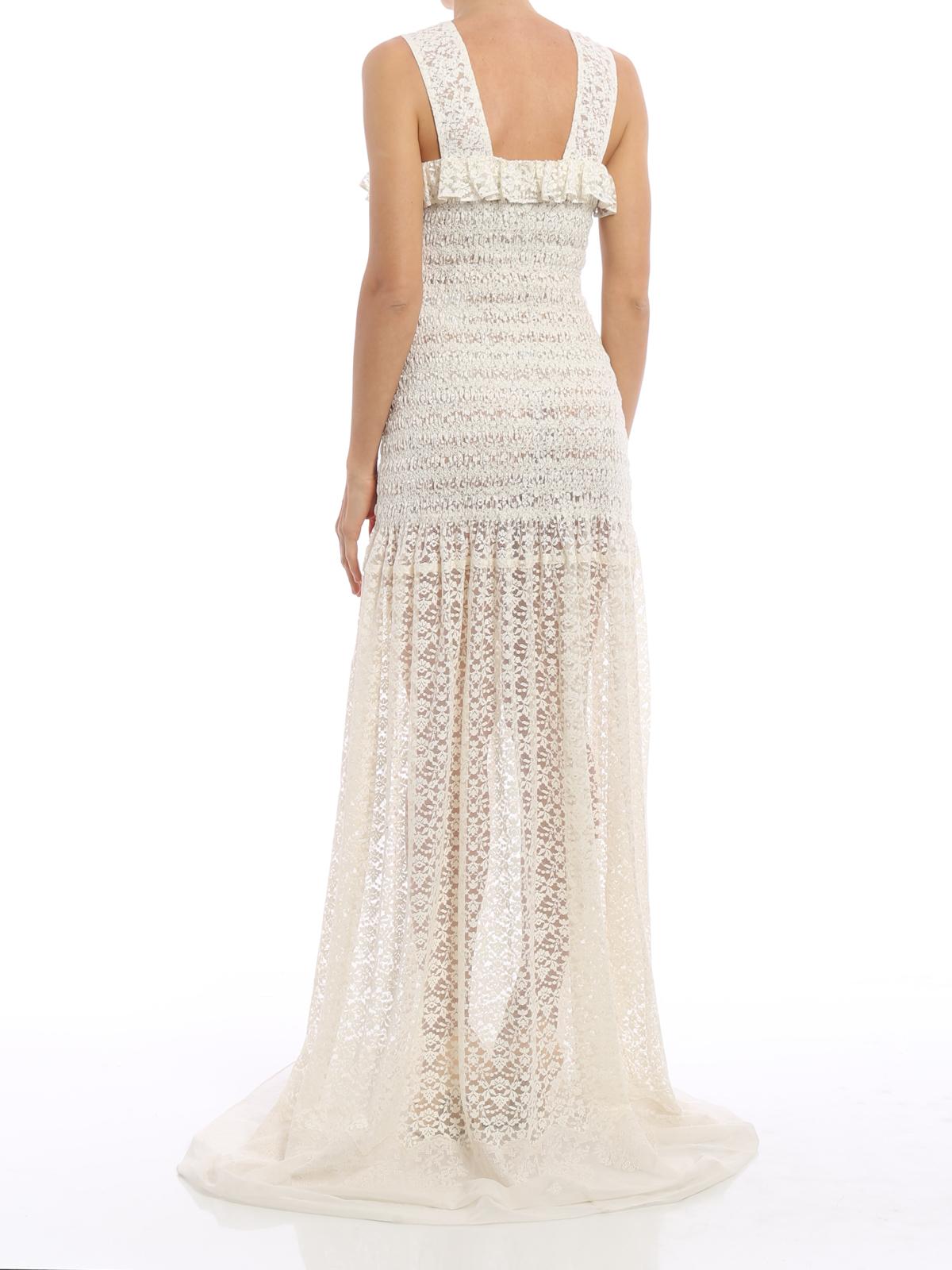 Stella Mccartney Melanie Romantic Lace Dress Evening Dresses