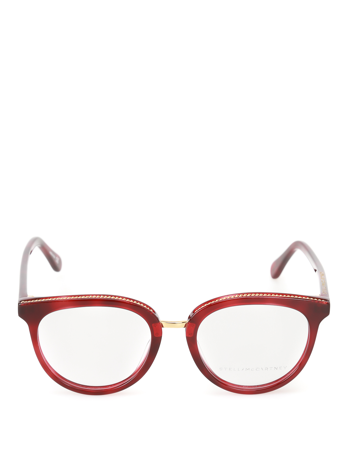 5634591949c iKRIX STELLA McCARTNEY  Glasses - Chain detailed dark red glasses