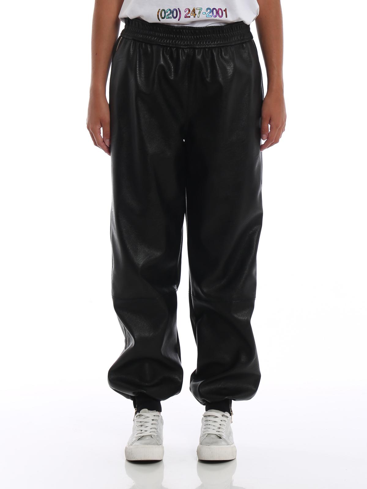 Zip Stella Laterali Con In Mccartney Finta Pelle Pantaloni wHxpTFBqwC