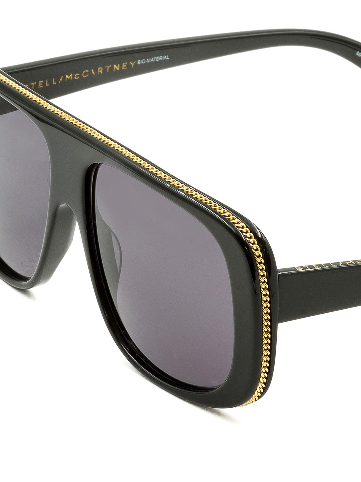 selezione migliore 10143 0c8d4 Stella Mccartney - Occhiali da sole con catena dorata ...