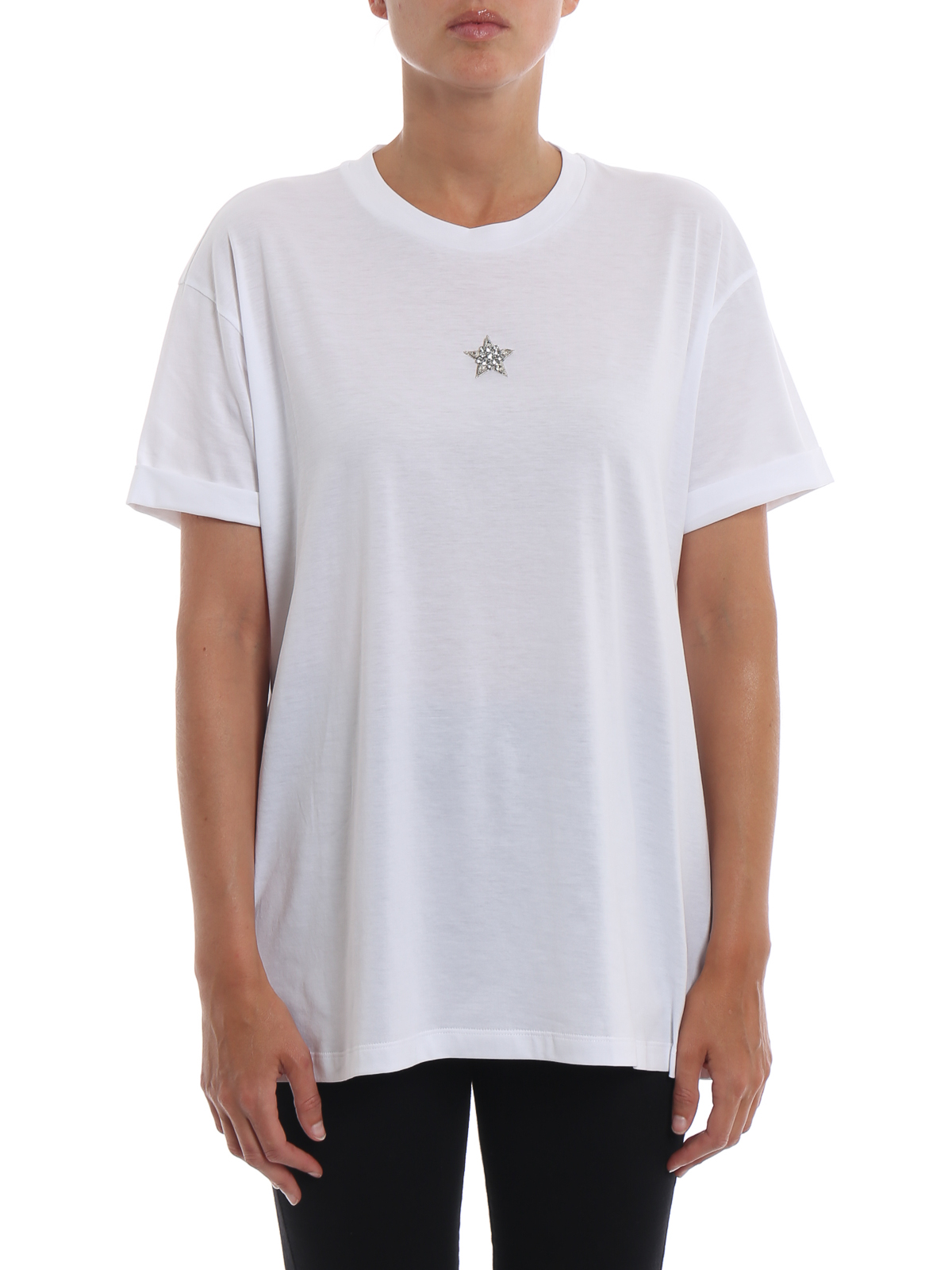9f8f44c8 iKRIX STELLA McCARTNEY: t-shirts - Crystal star white T-shirt
