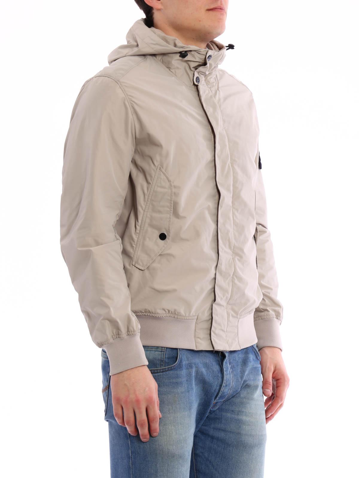 Waterproof hooded jacket by Stone Island - casual jackets - iKRIX