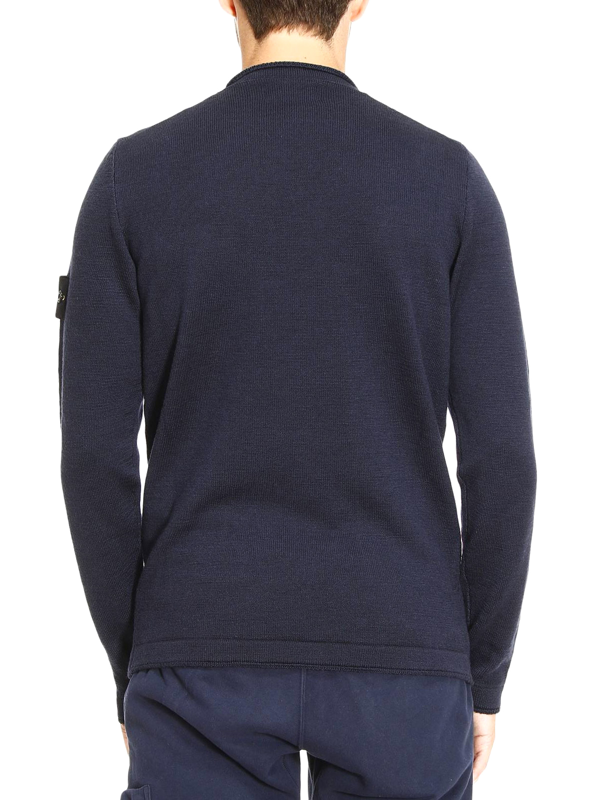 chest pocket roll neck pullover by stone island crew necks shop online at 533d7v0028. Black Bedroom Furniture Sets. Home Design Ideas