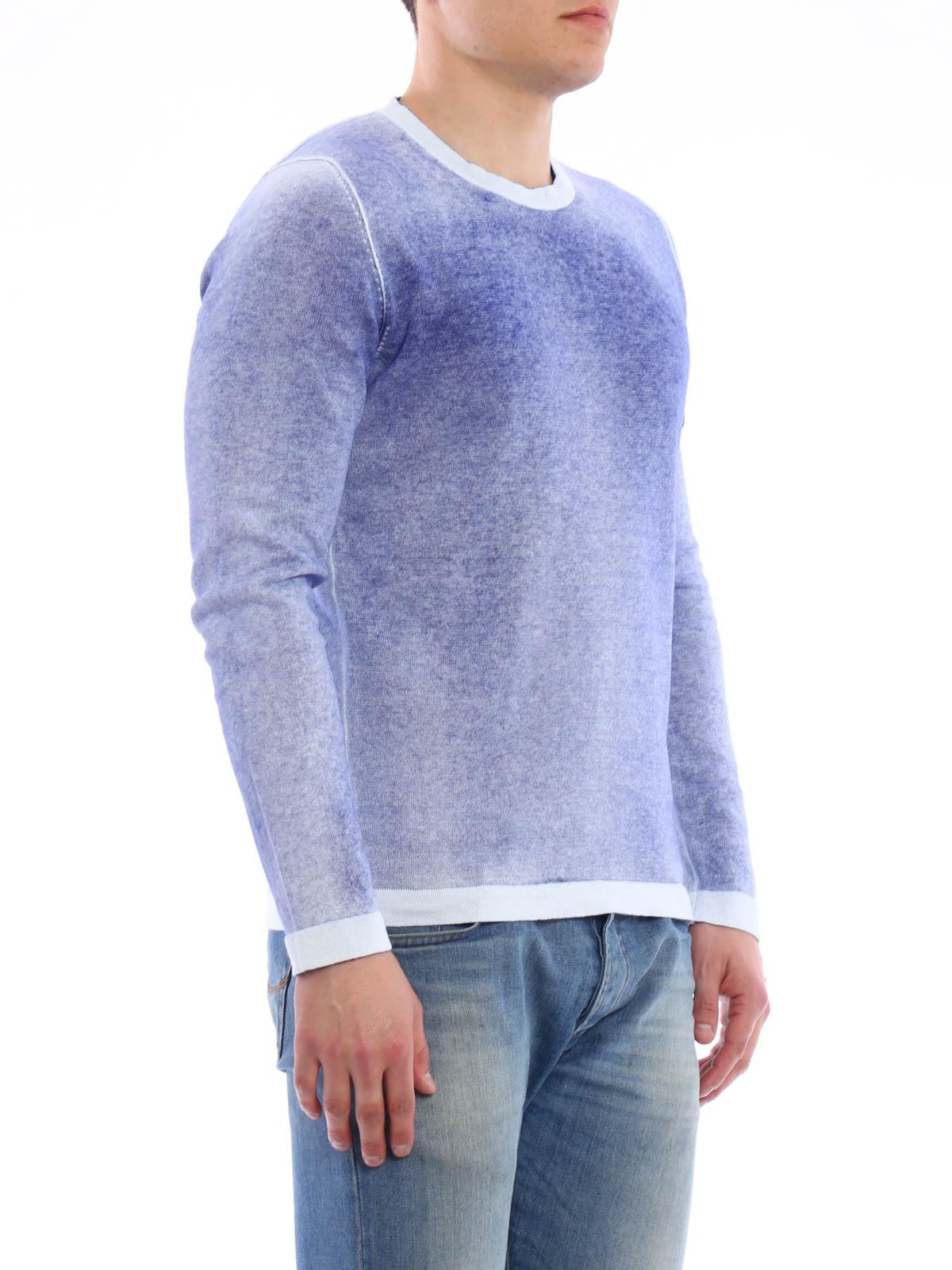 stone island faded crew neck sweater crew necks 6415544a8 v0022. Black Bedroom Furniture Sets. Home Design Ideas