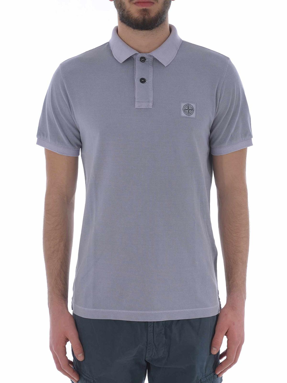 stone island slim fit polo shirt