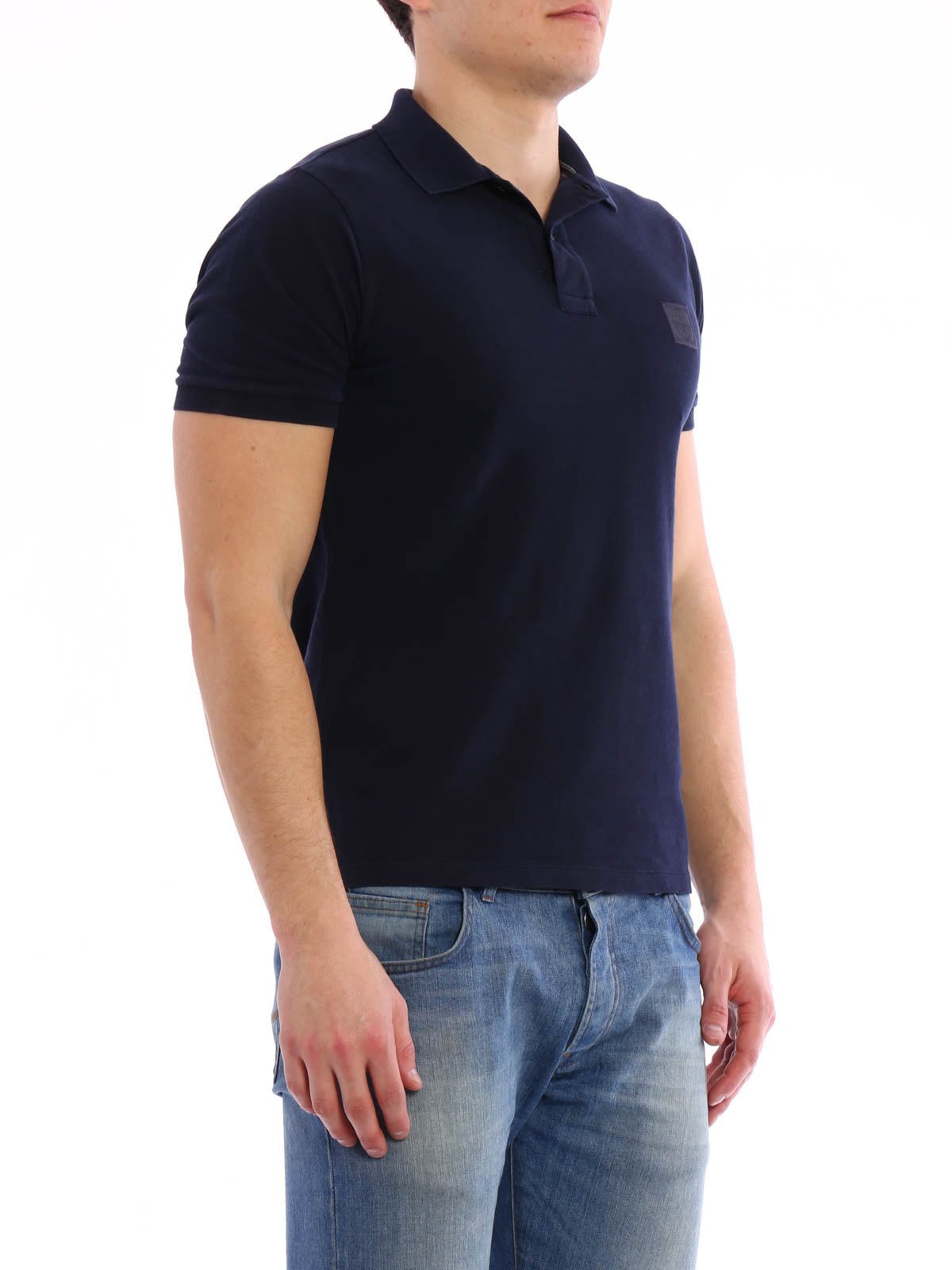 solid colour pique polo by stone island polo shirts shop online at 641522s67 v0020. Black Bedroom Furniture Sets. Home Design Ideas