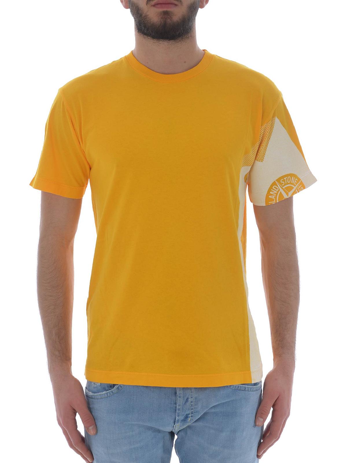 86f084fef Stone Island - Graphic Five Folded yellow Tee - t-shirts - 2NS85V0030