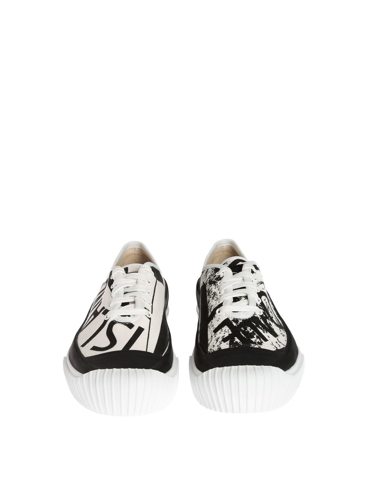 Stone Island - Branded canvas sneakers