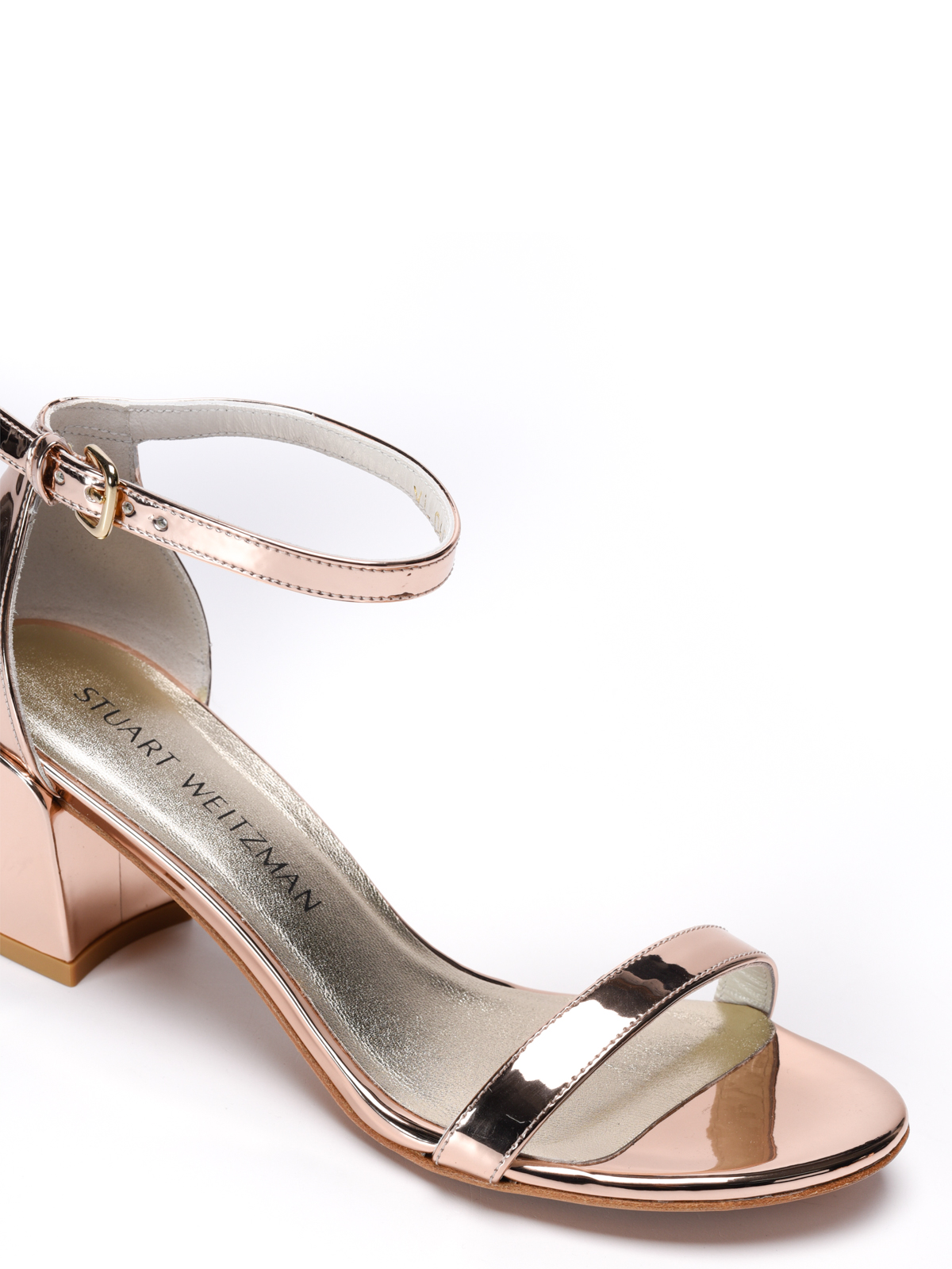 Stuart Weitzman Beige Patent Leather Nearlynude Lucite