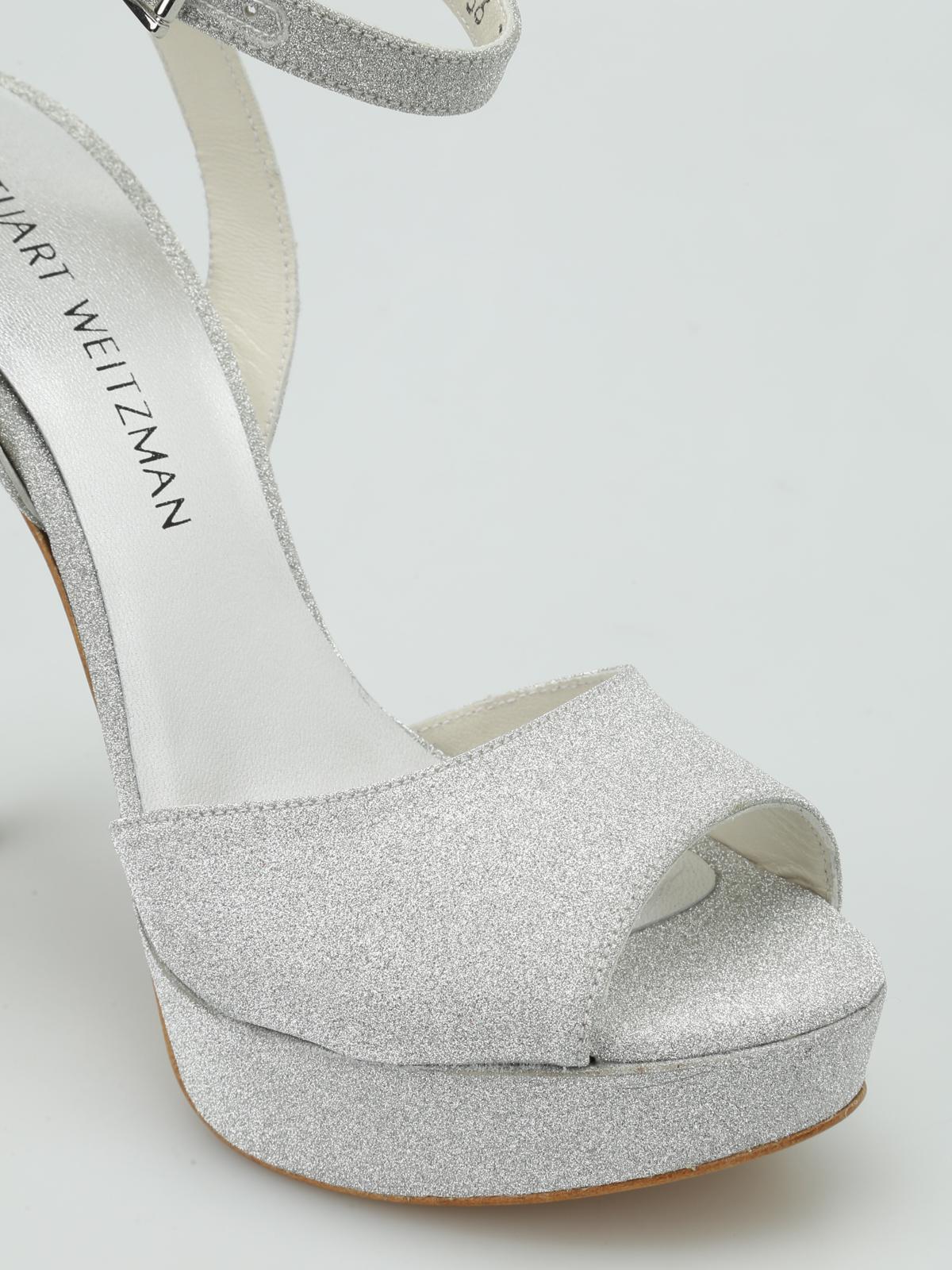 Swagger glitter platform sandals