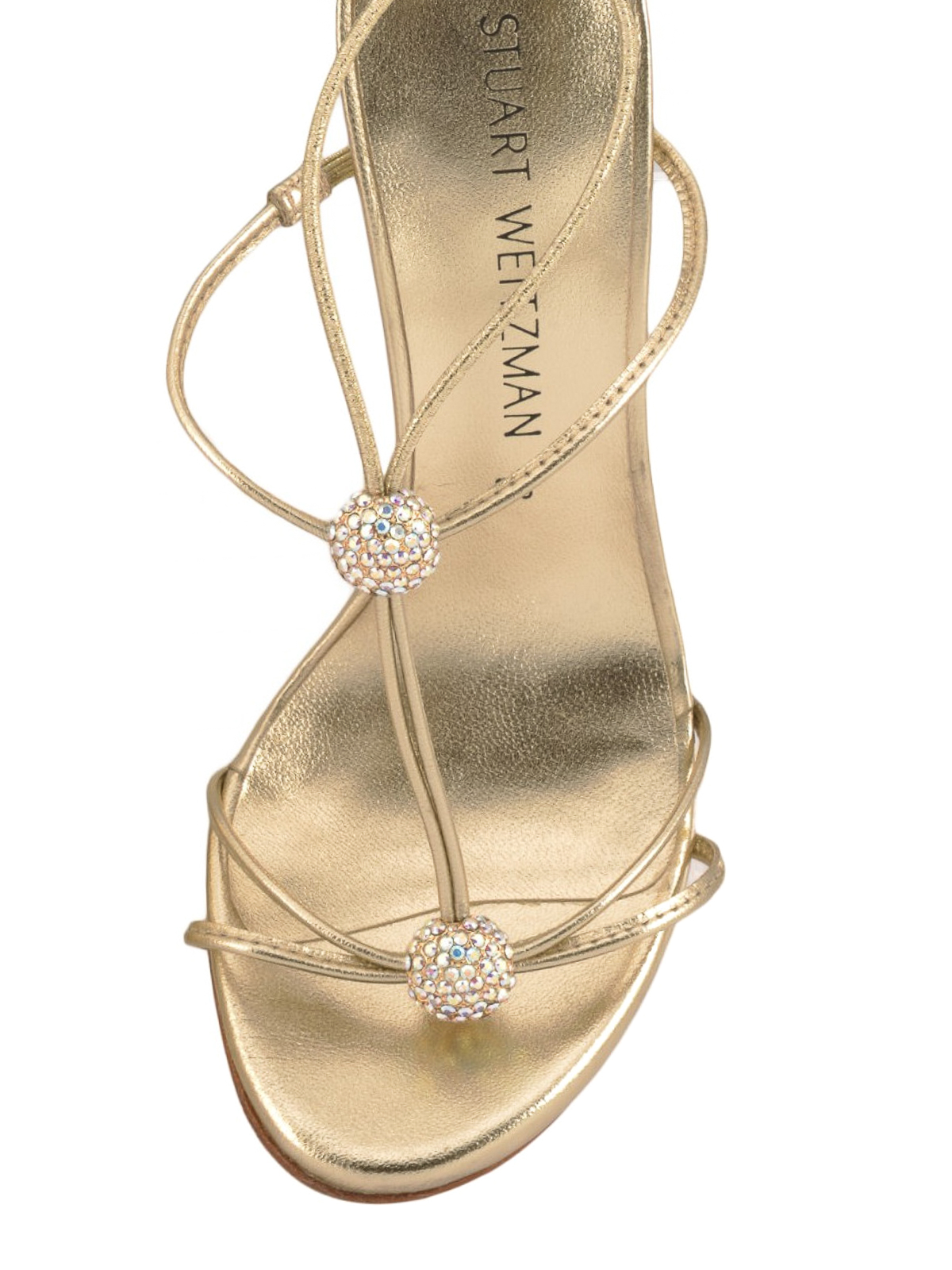 8de78249889ce iKRIX Stuart Weitzman  sandals - Trixie embellished leather sandals