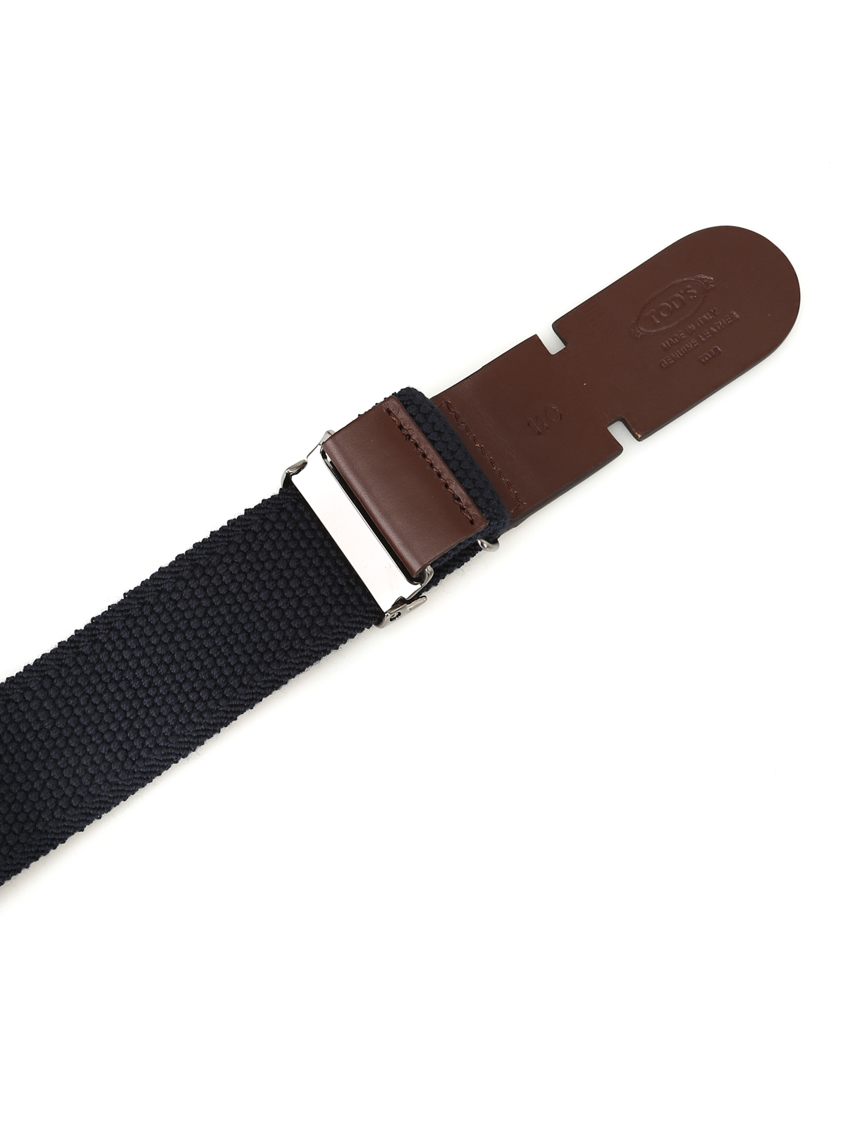 Tods Mens XCMCP770100HGR01L7 Blue Fabric Belt