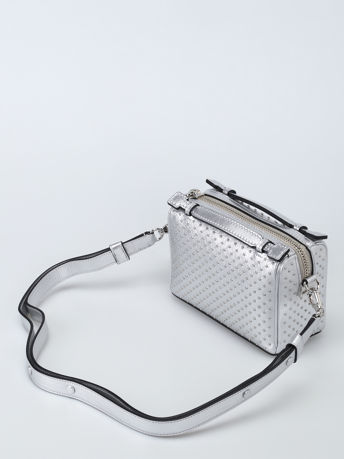 30ed0426fb984 Tod'S - Don studded leather bowling bag - cross body bags ...