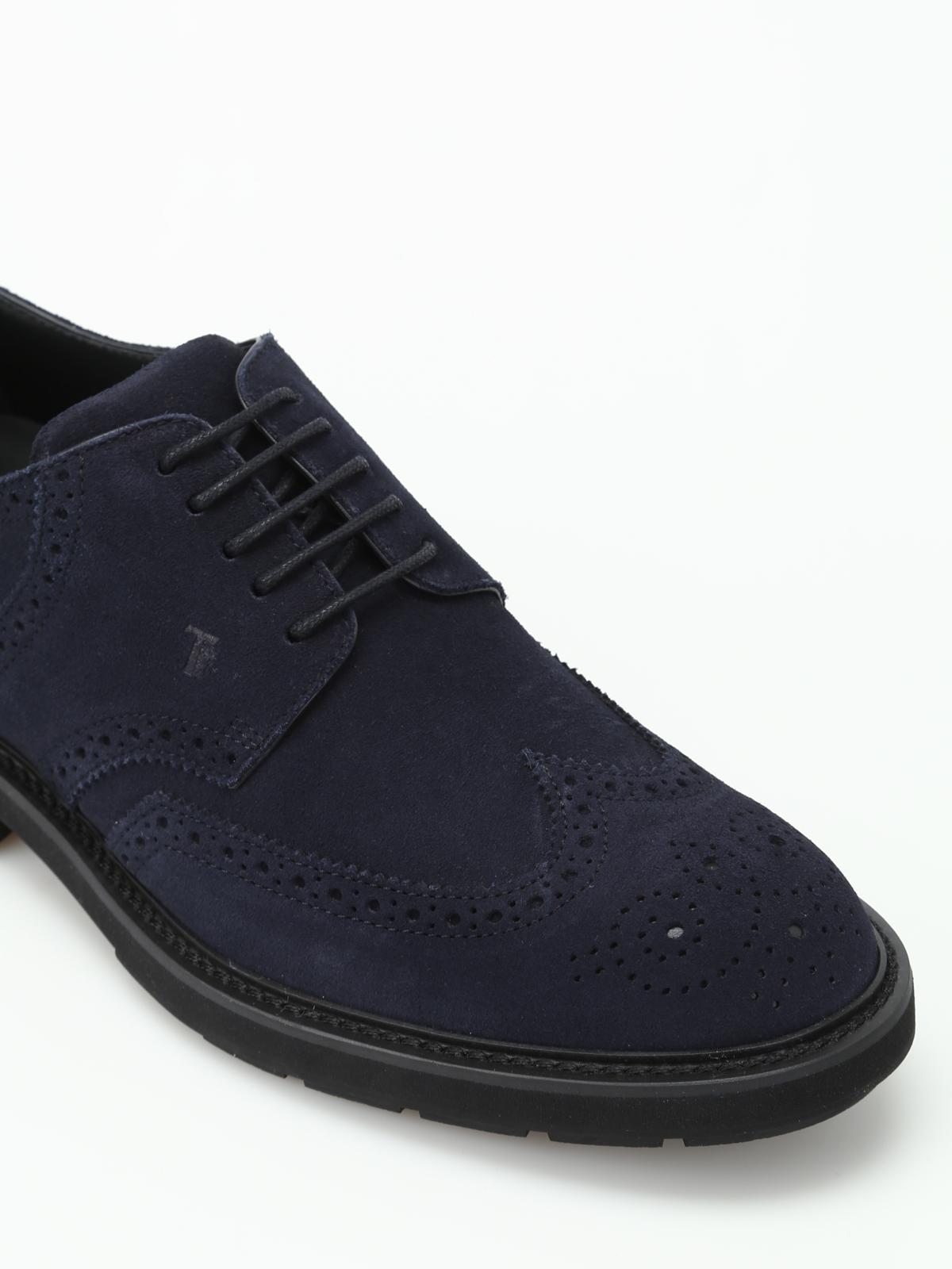 dark blue brogues