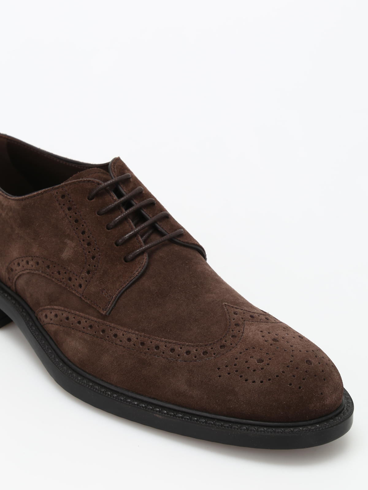 Suede Derby brogues - lace-ups shoes